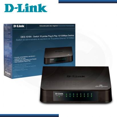 SWITCH D-LINK DES-1016A 16 PUERTOS 10/100 Mbps