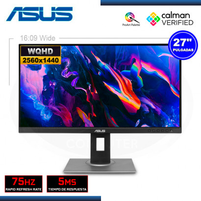 """MONITOR LED 27"""" ASUS PROART PA278QV 2560x1440 HDMI MINI DP 5MS/75Hz (PN:90LM05L1-B013B0)"""