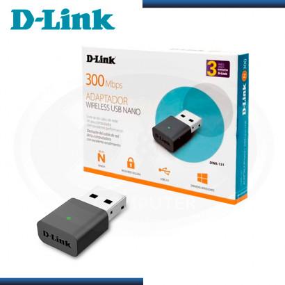 NANO ADAPTADOR  D-LINK DWA-131 USB WI-FI 300MBPS