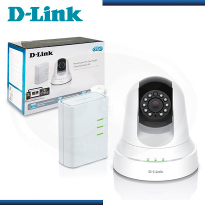 KIT VIGILANCIA D-LINK DCS-6045LKT CAMARA IP POWER LINE HD + DOMO