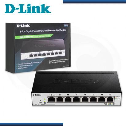 SWITCH D-LINK DGS-1100-08P 8 PUERTOS POE GIGABIT 10/100/1000 MBPS