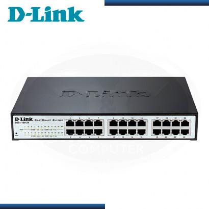 SWITCH D-LINK DGS-1100-24P 24 PUERTOS 10/100/1000 MBPS SMART GIGABIT POE