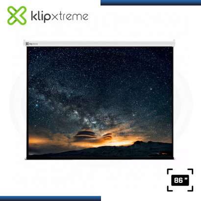 "ECRAN KLIP XTREME KPS-302 PANTALLA 86"" DE PARED RECTRACTIL BLANCO"