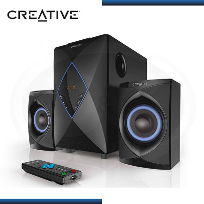 PARLANTE CREATIVE E2800 RADIO FM SUBWOOFER DIGITAL 2.1 BLACK (PN:51MF0455AA000)