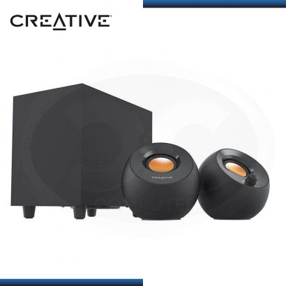 PARLANTES CREATIVE PEBBLE PLUS BLACK USB SISTEMA 2.1 (PN:51MF0480AA000)
