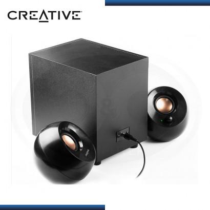 PARLANTES CREATIVE PEBBLE PLUS BLACK USB SISTEMA 2.1 (PN:51MF0480AA000)