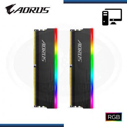 MEMORIA 16GB (2x8GB) DDR4 AORUS RGB BUS 3733MHZ (PN:GP-ARS16G37)