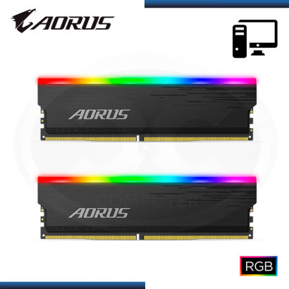 MEMORIA 16GB (2x8GB) DDR4 AORUS RGB BUS 3333MHZ (PN:GP-ARS16G33)