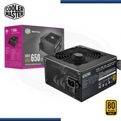 FUENTE COOLER MASTER MWE 650 V2 650W 80 PLUS GOLD (PN:MPE-6501-ACAAG-U2)