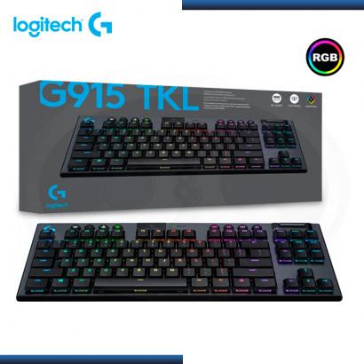 TECLADO LOGITECH  G915 TKL LIGHTSPEED RGB LIGHTSYNC MECANICO BLACK (PN:920-009495)