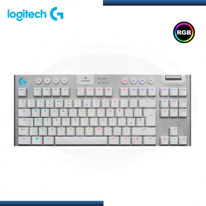 TECLADO LOGITECH G915 TKL LIGHTSPEED RGB LIGHTSYNC MECANICO WHITE (PN:920-009660)