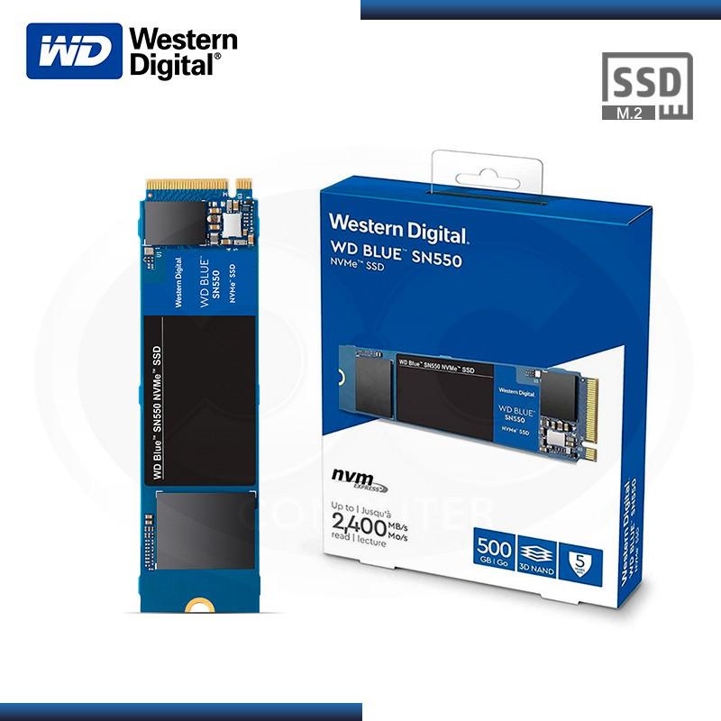 SSD 500GB WD BLUE SN550 M.2 2280 NVMe PCIe (PN:WDS500G2B0C)