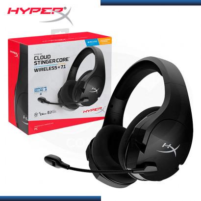 AUDIFONO HYPERX CLOUD STINGER CORE WIRELESS 7.1 SURROUND BLACK (PN:HHSS1C-BA-BK/G)