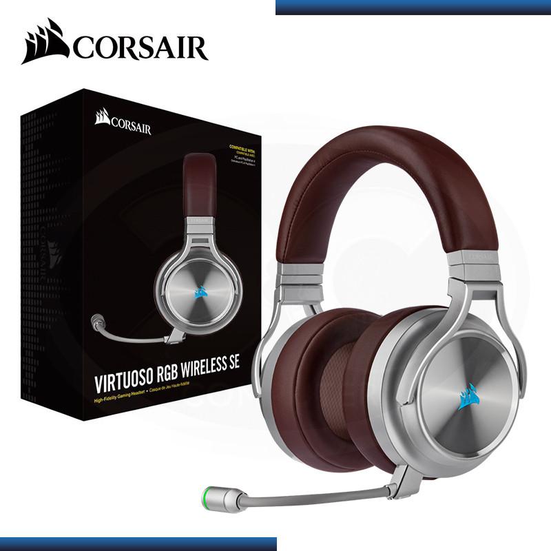 AUDIFONO CORSAIR VIRTUOSO RGB CON MICROFONO BROW WIRELESS SE (PN:CA-9011181-NA)