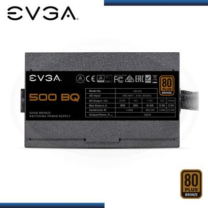 FUENTE EVGA 500 BQ 500W 80 PLUS BRONZE SEMI MODULAR (PN:110-BQ-0500-K1)