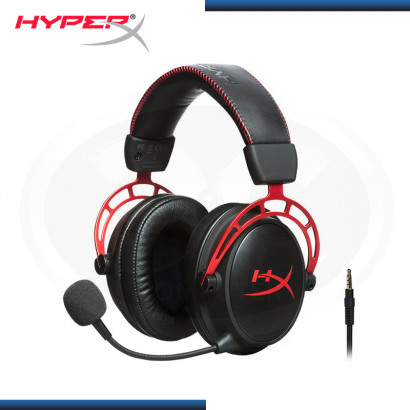 AUDIFONO HYPERX CLOUD ALPHA BLACK RED CON MICROFONO (PN:HX-HSCA-RD/AM)