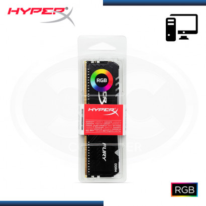 MEMORIA 8GB DDR4 HYPERX FURY BLACK BUS 3200MHZ (PN:HX432C16FB3A/8)