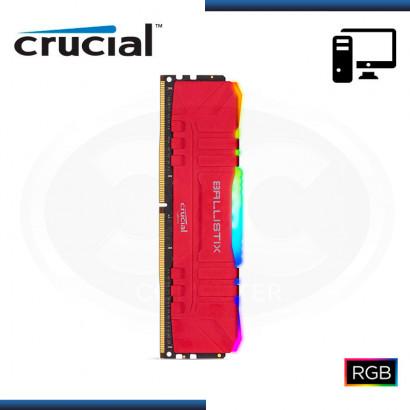 MEMORIA 8GB DDR4 CRUCIAL BALLISTIX RED RBG BUS 3200MHZ PRESENTACION OEM (PN:BL8G32C16U4RL)