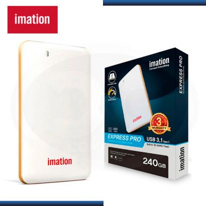 SSD 240GB EXTERNO IMATION EXPRESS PRO PORTABLE WHITE USB 3.1 (PN:IM240GPSDV01C1N2B)