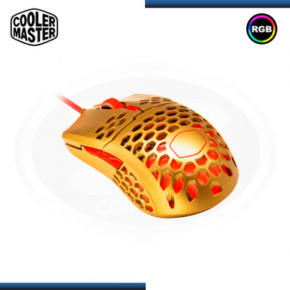 MOUSE COOLER MASTER MM711 GOLDEN RED EDITION RGB GAMING (PN:MM-711-GROL1)