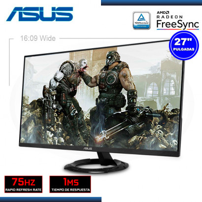 "MONITOR LED 27"" ASUS VZ279HEG1R 1920x1080 HDMI VGA 1MS/75Hz/FREESYNC (PN:90LM05T1-B01EB0)"