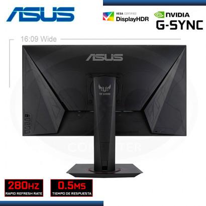 "MONITOR LED 24.5"" ASUS VG258QM TUF GAMING 1920x1080 HDMI DP 0.5MS/280Hz/G-SYNC (PN:90LM0450-B023B0)"