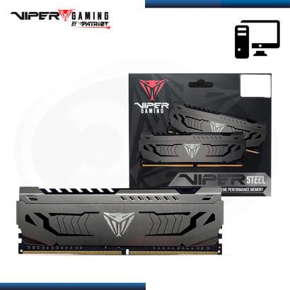 MEMORIA 16GB DDR4 VIPER GAMING STEEL GRIS CON DISIPADOR BUS 3200Mhz (PN:PVS416G320C6)