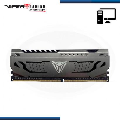 MEMORIA 16GB DDR4 VIPER GAMING STEEL GRIS CON DISIPADOR BUS 3000Mhz (PN:PVS416G300C6)