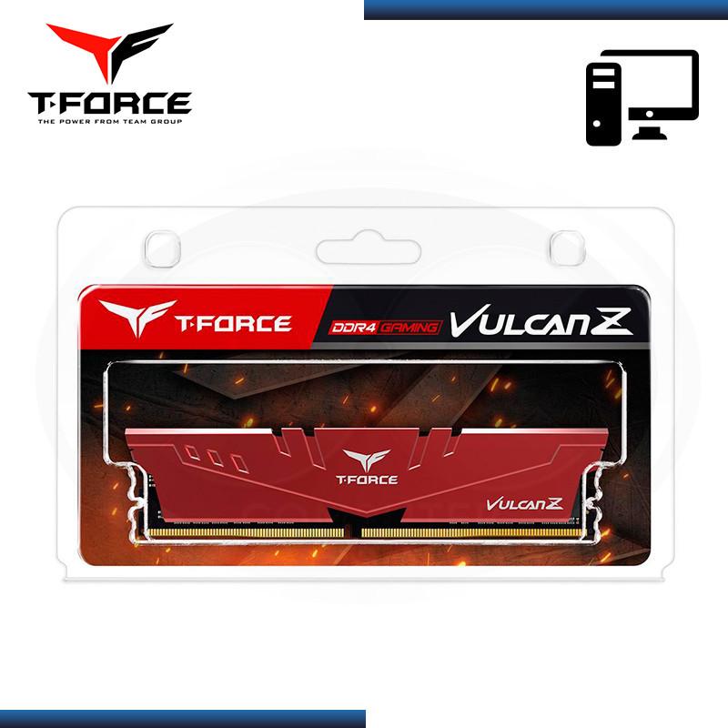 MEMORIA 16GB DDR4 T-FORCE VULCAN Z RED BUS 3200MHz (PN:TLZRD416G3200HC16F01)