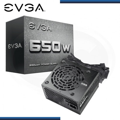 FUENTE EVGA 650W REAL ATX 12V (PN:100-N1-0650-L2)