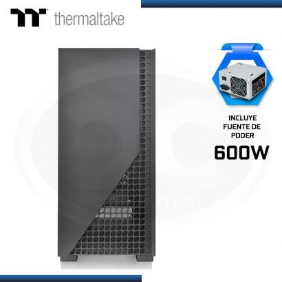 CASE THERMALTAKE VERSA H330 + FUENTE 600W VIDRIO TEMPLADO BLACK USB 3.0/USB 2.0 (PN:CA-3R8-60M1WU-00)