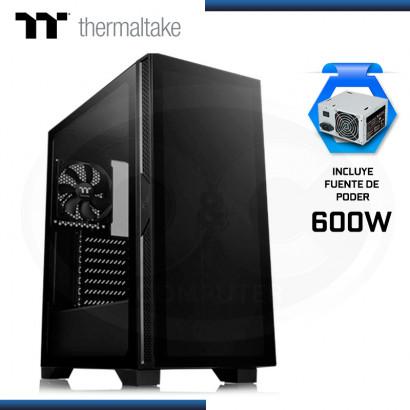 CASE THERMALTAKE VERSA T25 + FUENTE 600W VIDRIO TEMPLADO BLACK USB 3.0/USB 2.0 (PN:CA-3R5-60M1WU-00)