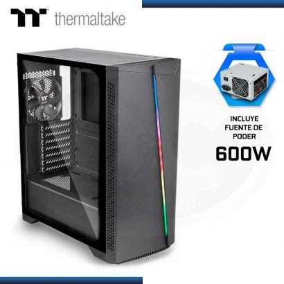 CASE THERMALTAKE H350 BLACK + FUENTE 600W VIDRIO TEMPLADO USB 3.0/USB 2.0 (PN:CA-3R9-60M1WU-00)