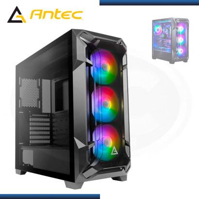 CASE ANTEC DF600 FLUX BLACK ARGB SIN FUENTE VIDRIO TEMPLADO USB 3.0 (PN:0-761345-80060-0)