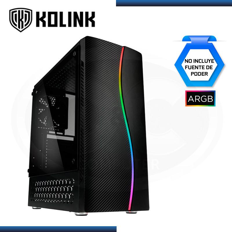 CASE KOLINK INSPIRE SERIE K5 ARGB SIN FUENTE VIDRIO TEMPLADO USB 3.0/USB 2.0 (PN:PGW-CH-KOL-031)