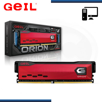 MEMORIA 8GB DDR4 GEIL ORION BUS 3000MHZ RED (PN:GAOR48GB3000C16ASC)