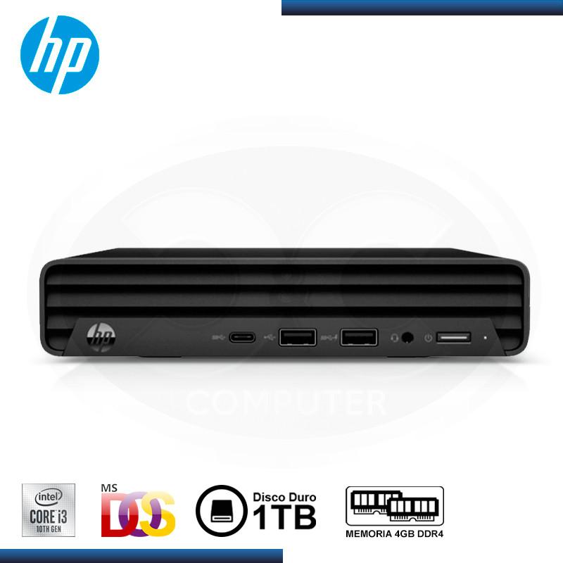 DESKTOP MINI HP 260 G4 INTEL CI3-10110U 2.10GHZ /4GB DDR4 / 1TB / SIN SISTEMA