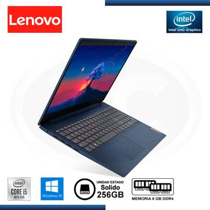 """LAPTOP LENOVO IDEAPAD 3 15IML05 CI5-10210U 15.6""""/8GB/SSD 256GB/WIN 10 ABYSS BLUE (PN:15IML05)"""