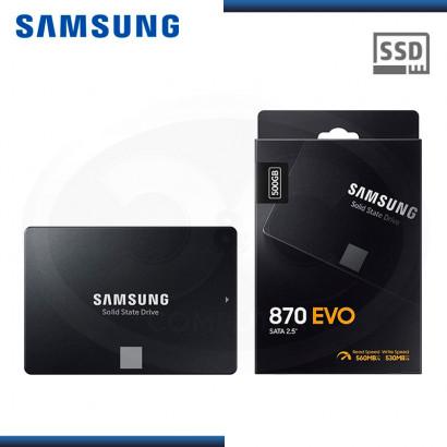 """SSD 500GB SAMSUNG 870 EVO SATA 3 2.5"""" (PN:MZ-77E500B/AM)"""