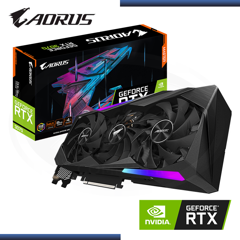 AORUS GEFORCE RTX 3070 8GB GDDR6 256BITS MASTER (PN:GV-N3070AORUS M-8GD)