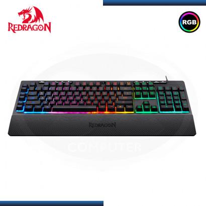 TECLADO REDRAGON SHIVA RGB SEMI-MECANICO SPANISH BLACK (PN:K512RGB-SPANISH)