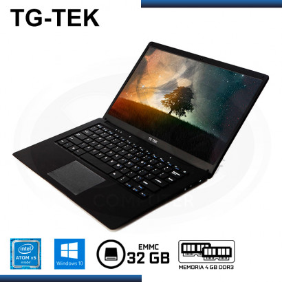 "LAPTOP TG-TEK TGL1401-BK ATOM X5-Z8350 14.1""/4GB DDR3/EMMC 32GB/WIND 10 BLACK"