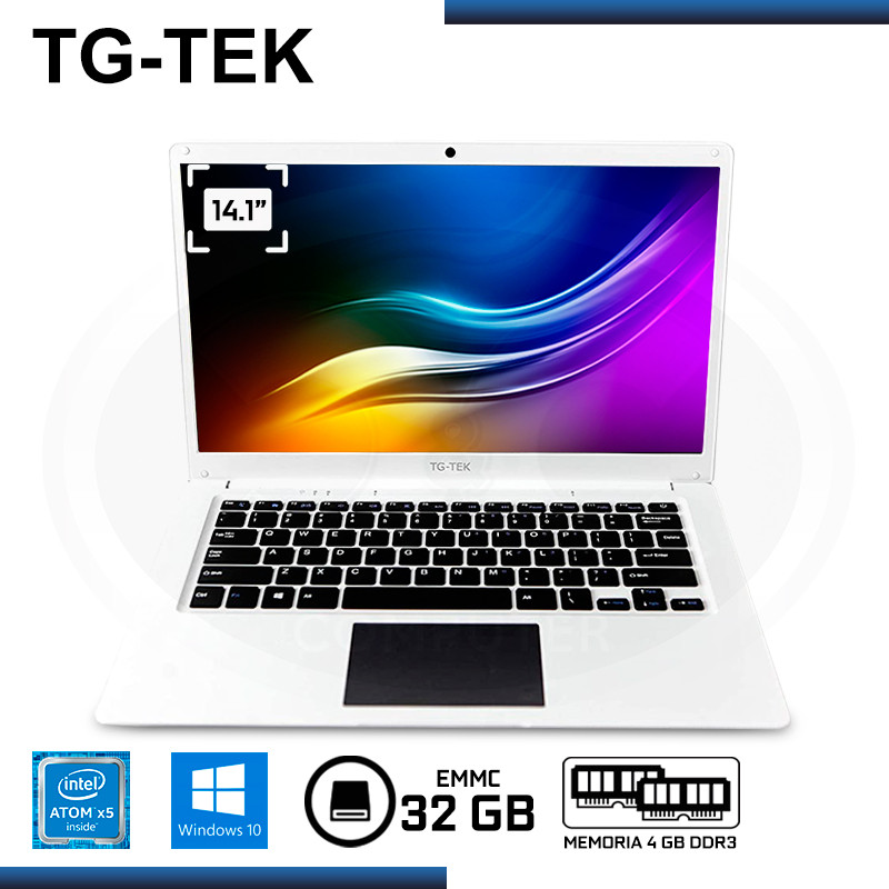"LAPTOP TG-TEK TGL1401-WH ATOM X5-Z8350 14.1""/4GB DDR3/EMMC 32GB/WIND 10 WHITE"
