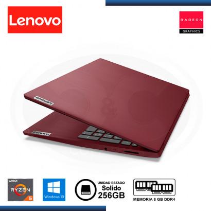"LAPTOP LENOVO IDEAPAD 3 15ADA05 AMD RYZEN 5 3500U 15.6""/8GB/SSD 256GB/WIN 10H CHERRY RED"