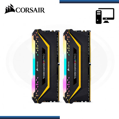MEMORIA 16GB (2x8GB) DDR4 CORSAIR VENGEANCE RGB PRO TUF GAMING EDITION 3200MHz BLACK (PN:CMW16GX4M2C3200C16TUF)