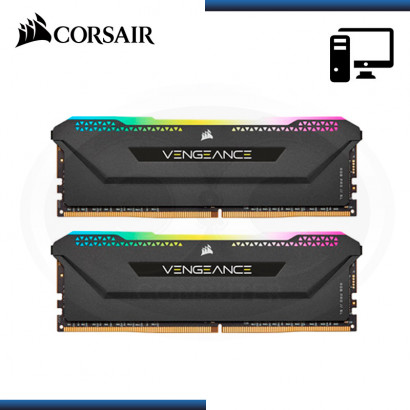 MEMORIA 16GB (2x8GB) DDR4 CORSAIR VENGEANCE RGB PRO SL 3200MHz BLACK (PN:CMH16GX4M2E3200C16)