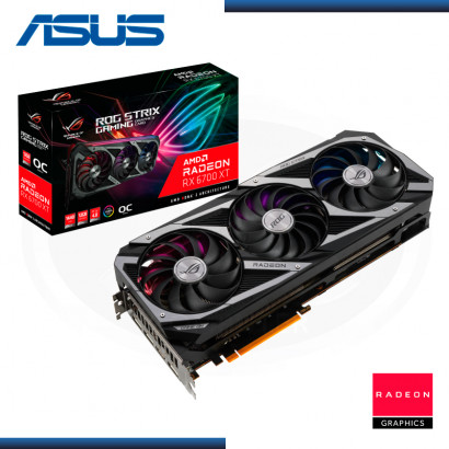 ASUS RADEON RX6700 XT 12GB GDDR6 192BITS OC ROG STRIX GAMING (PN:90YV0G81-M0AA00)