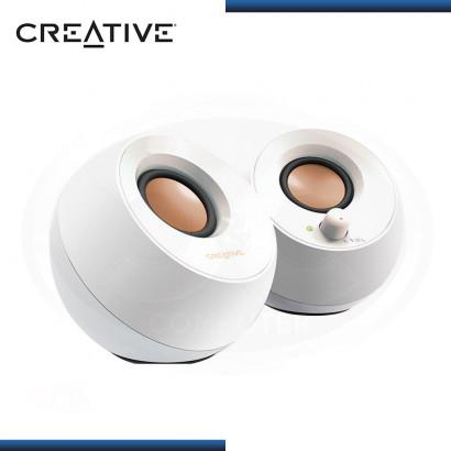 PARLANTES CREATIVE PEBBLE WHITE USB 2.0 (PN:51MF1680AA001)