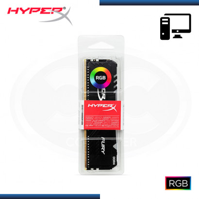 MEMORIA 16GB DDR4 HYPERX FURY BLACK RGB BUS 3000MHz (PN:HX430C15FB3A/16)