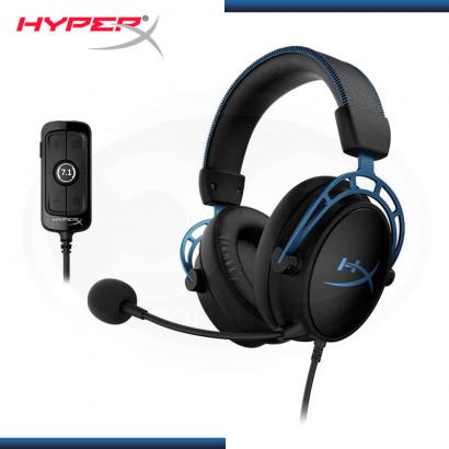 AUDIFONO HYPERX CLOUD ALPHA S BLACK BLUE CON MICROFONO (PN:HX-HSCAS-BL/WW)